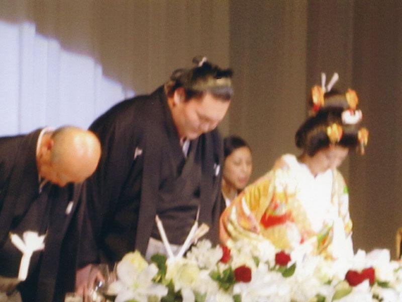 横綱白鵬関の結婚式に出席(プリンスタワーホテル)