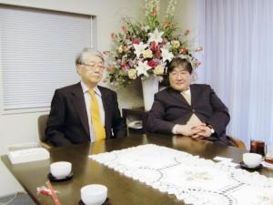 バッチジャルガル公使が名誉領事館を訪問(2010.1)
