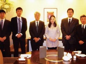 23年度県費留学生オユンジャルガル嬢の送別会で(2012.3)