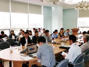 UB市道路排水事業でのモンゴル技術者への講習会(2012.6)
