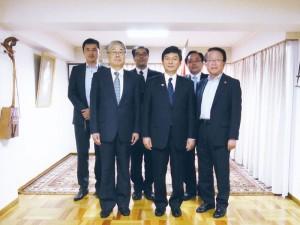 ジクジット特命全権大使の離任で森新潟県副知事と挨拶に伺う(2011.8)